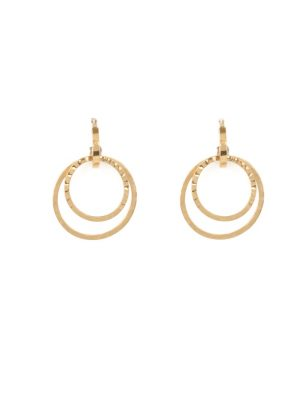 9ct Yellow Gold Hoop Drop Earrings