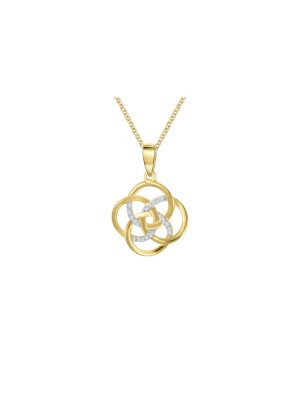 9ct Yellow Gold Diamond set Pendant