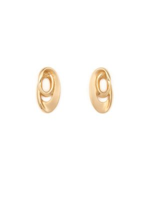 9ct Yellow Gold Oval Earrings