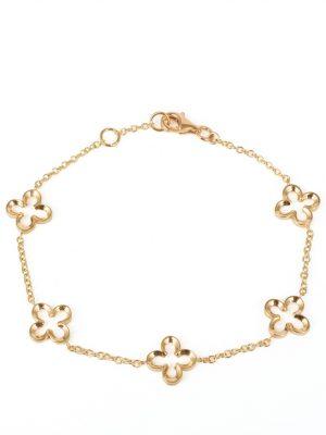 9ct Gold Open Flower Bracelet
