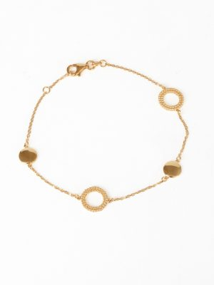 9ct Yellow Gold Circle Bracelet