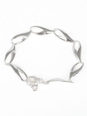 Silver Sabre Link Bracelet