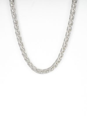 Silver Parmier Link Necklace