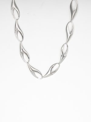 Silver Sabre Link Necklace