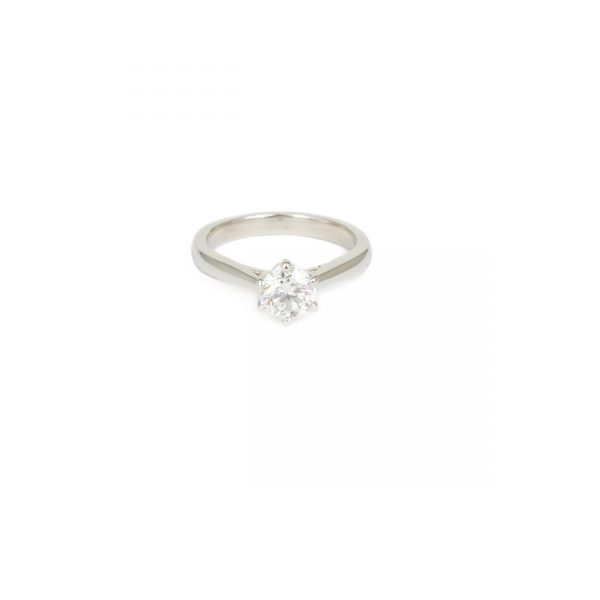 Platinum Diamond Ring 0.83ct