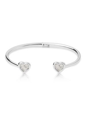 Links of London Open Heart  Silver Moon Stone Bangle