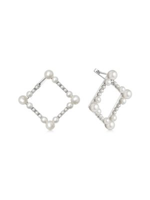 Links of London Orbs Square Pearl Earrings