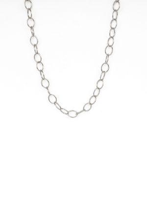 9ct White Gold Trace Chain
