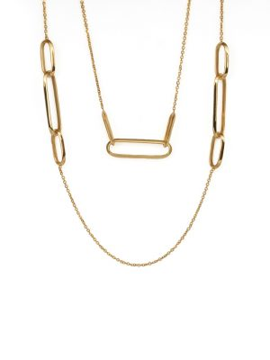 9ct Yellow Gold Station Necklace