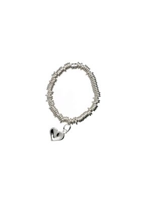 Links of London Sweetie Silver Thumbprint Childs Bracelet with Heart Charm