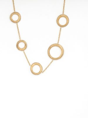 9ct Yellow Gold 5 Circle Necklace